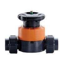 R-K TDD Series 3//4 PVDF Diaphragm Divertor Air Valve 20-80PSIG Acuating Pressure Vacuum-150PSIG FNPT